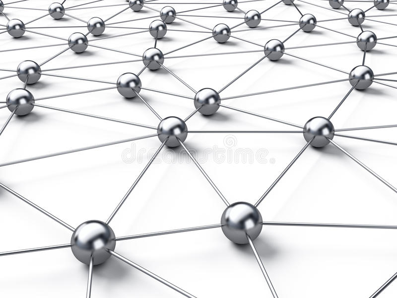 Connection network vector illustration