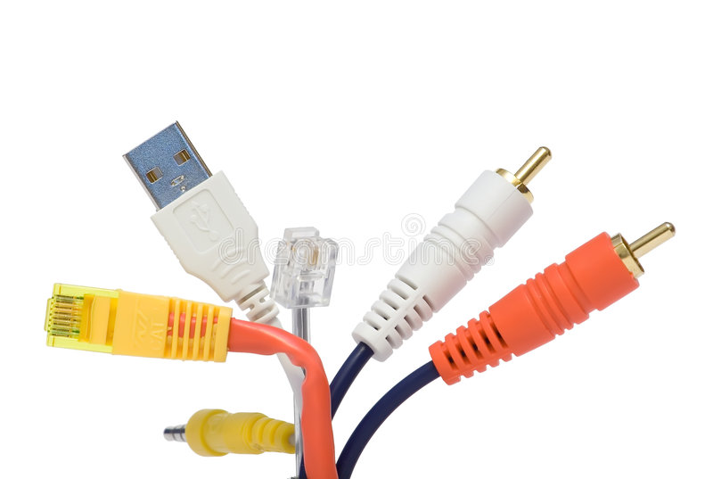 Connection plugs stock images