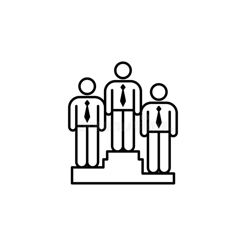 connection, staff, team icon. Element of teamwork for mobile concept and web apps illustration. Thin line icon for website design vector illustration