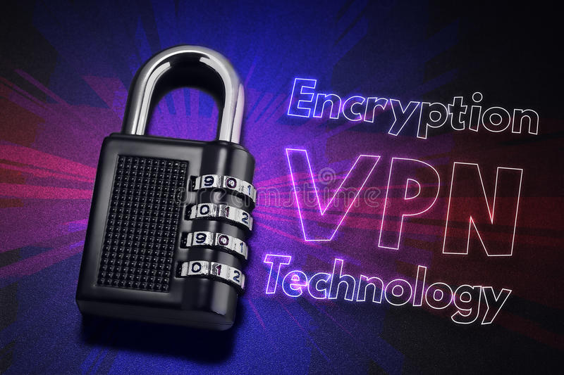 Connection to internet security, electronic security, Internet traffic encryption. VPN technology royalty free stock photography