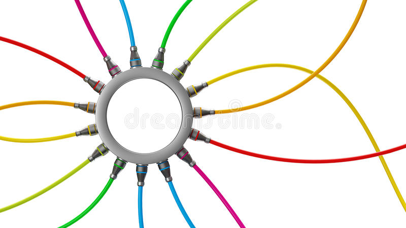 Download Connections stock illustration. Image of line, wire, device - 32152482
