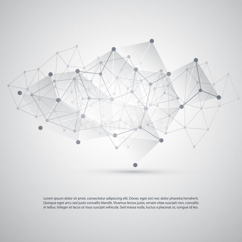 Connections - Molecular, Global Business Network Design - Abstract Mesh Background royalty free illustration