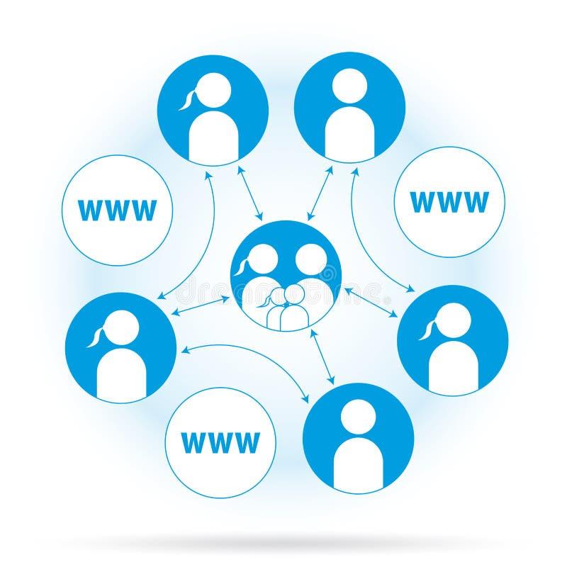Connectivité de gestion de réseau de vecteur illustration stock