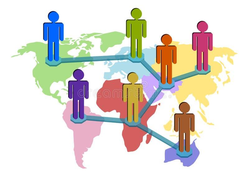 connectivity över hela världen stock illustrationer