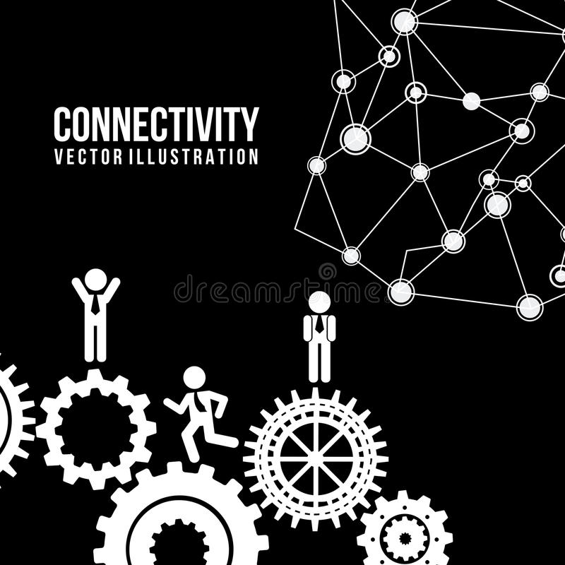 Connectivity vector illustration