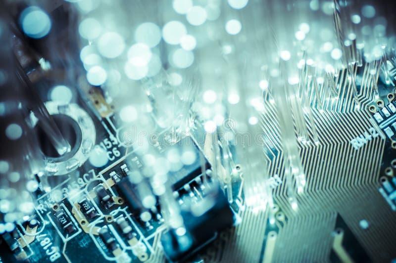 Connectivity.Fiber光缆,纤维连接, telecomunicat 图库摄影