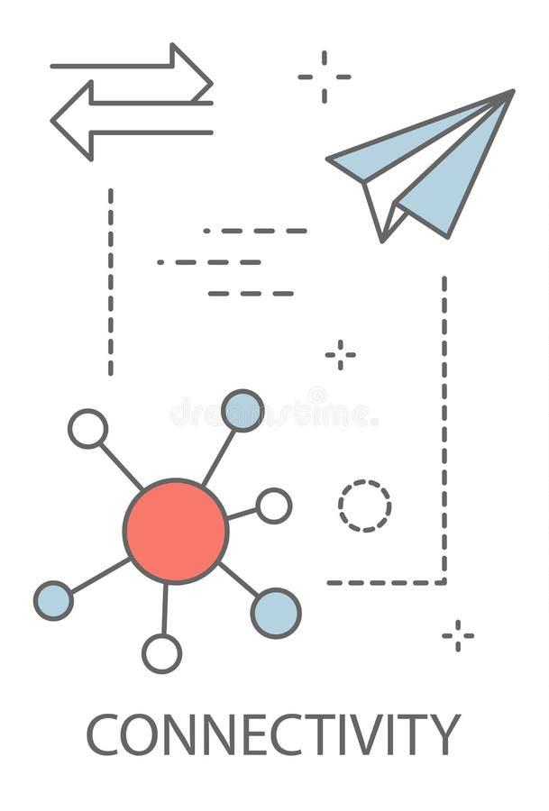 connectivity Idé av den moderna teknologi och kommunikationen royaltyfri illustrationer