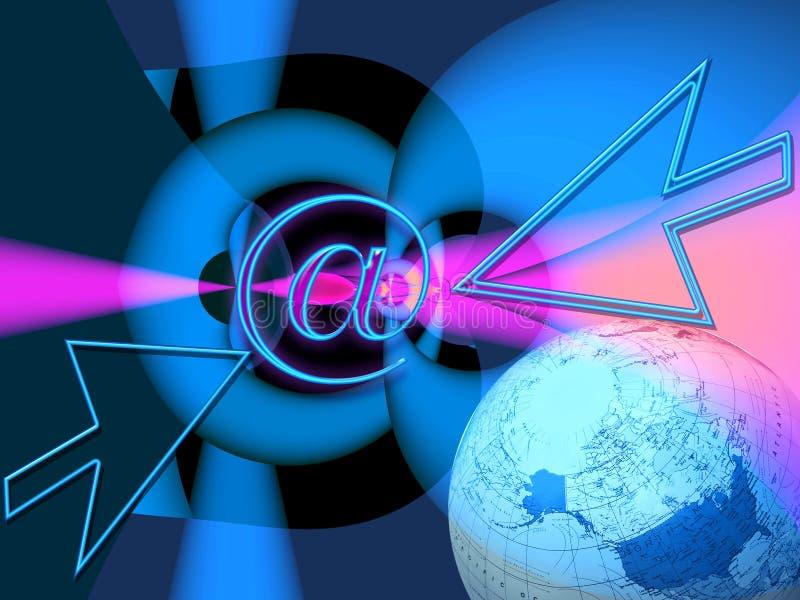 connectivity targets den breda världen royaltyfri illustrationer
