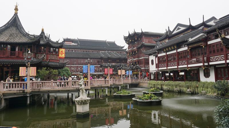 A conner of Yu yuan Garden royalty free stock photos