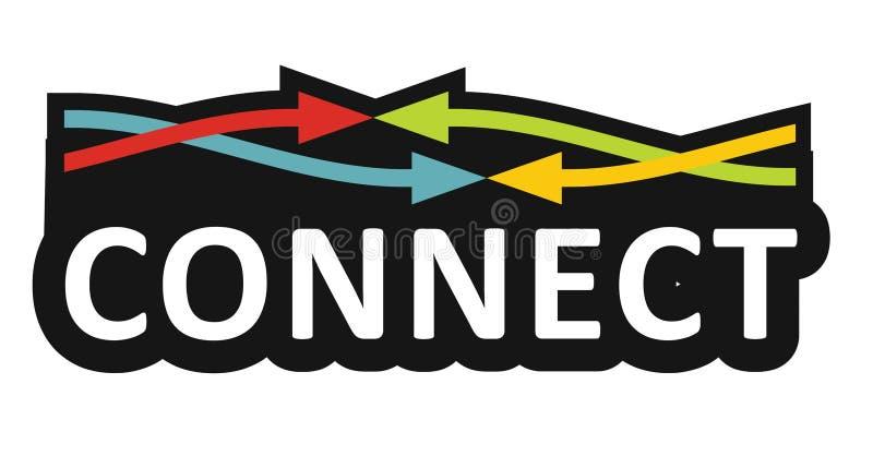 Connetion kommunikationsbegrepp stock illustrationer