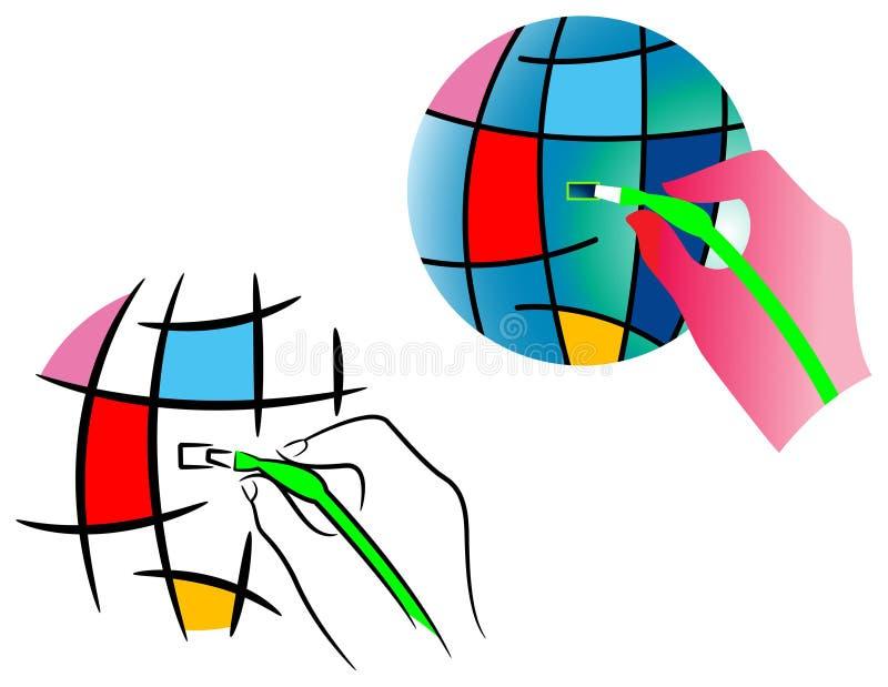 Connetta al mondo illustrazione di stock