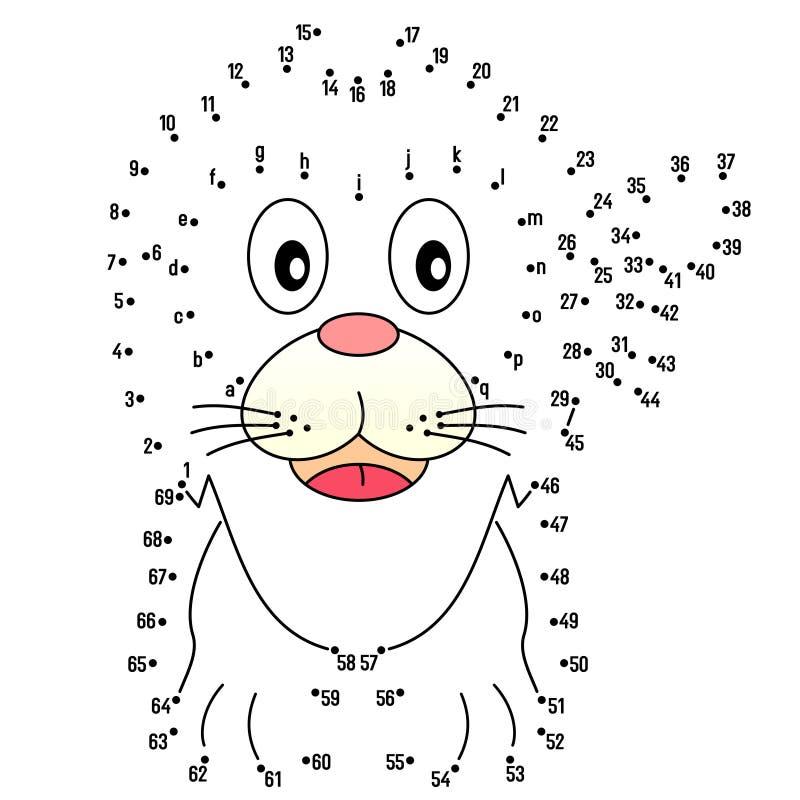 Connetta i puntini - leone illustrazione di stock