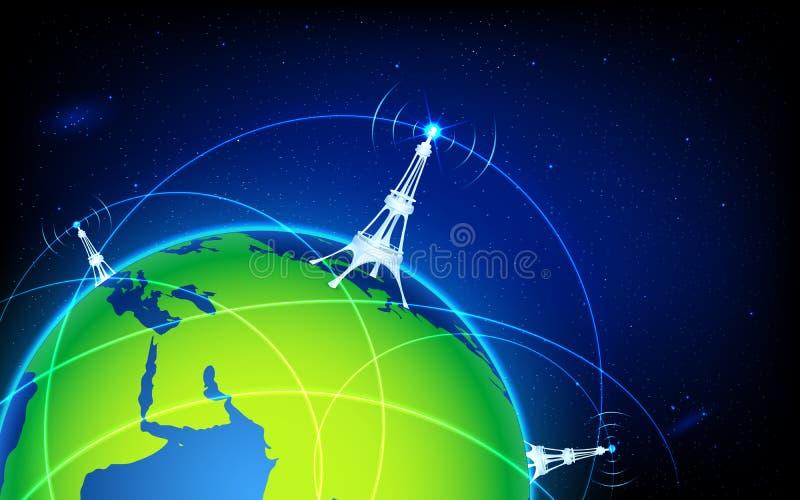Connettività del mondo illustrazione vettoriale