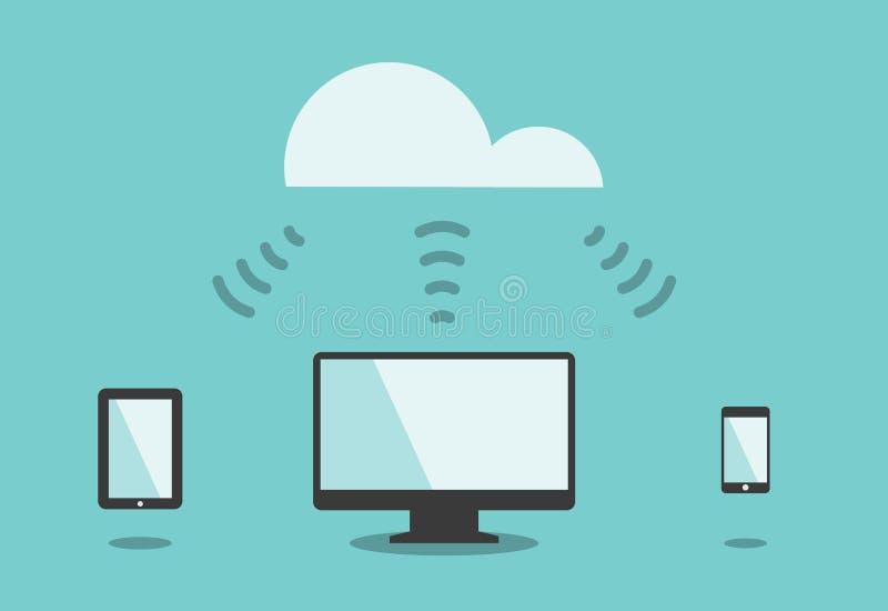 Connettività di tecnologia royalty illustrazione gratis