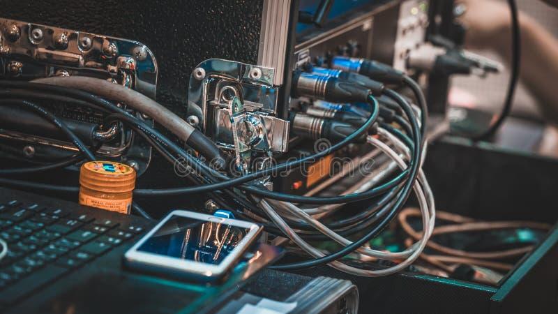 Connettore dell'incavo del giunto della spina elettrica immagine stock