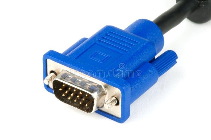 Connettore di cavo maschio di VGA immagini stock
