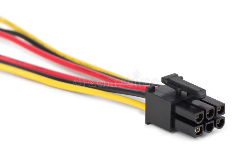 Connettore e cavo di potenza immagini stock