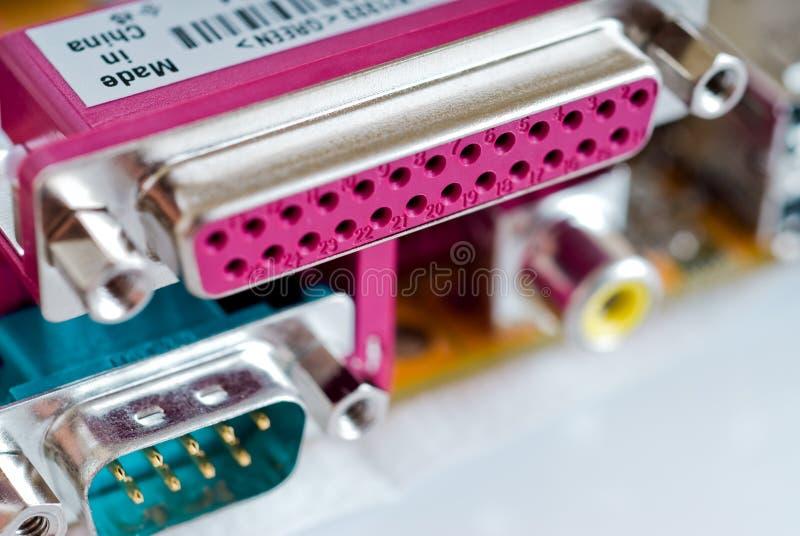 Connettori del calcolatore immagine stock libera da diritti