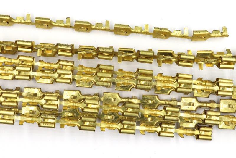 Connettori del multi perno elettrico automobilistico, maschio e spina di plastica del fermaglio, connettori vari di elettronica i fotografie stock libere da diritti