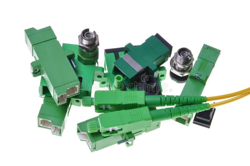 Connettori utilizzati nel communicat di dati fotografie stock libere da diritti