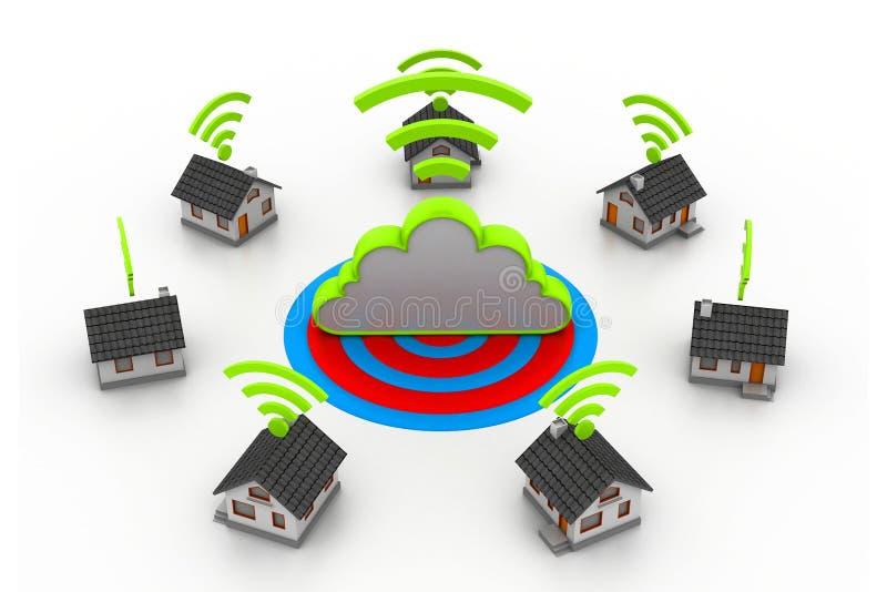 Connexion à la maison sans fil illustration libre de droits