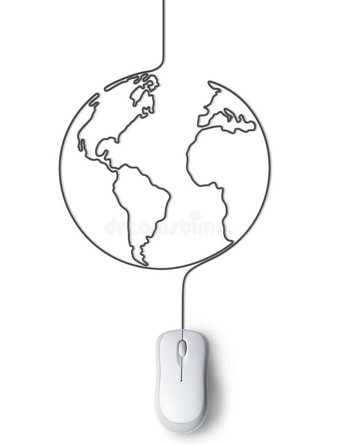 Connexion avec le monde illustration libre de droits