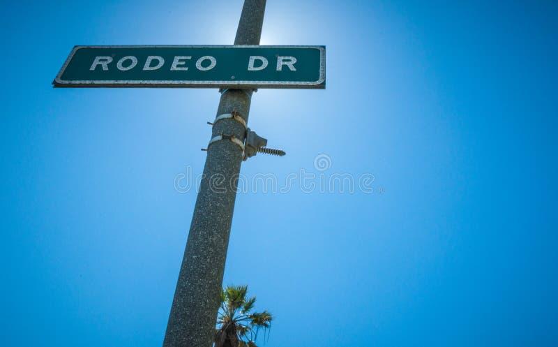 Connexion Beverly Hills de Rodeo Drive Strret photos libres de droits
