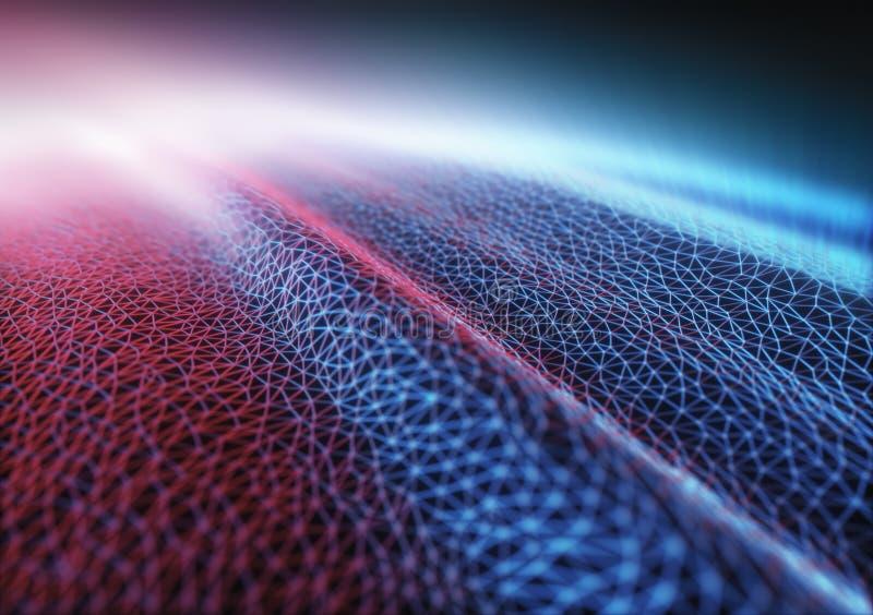 Connexion colorée par hologramme abstrait de fond illustration libre de droits