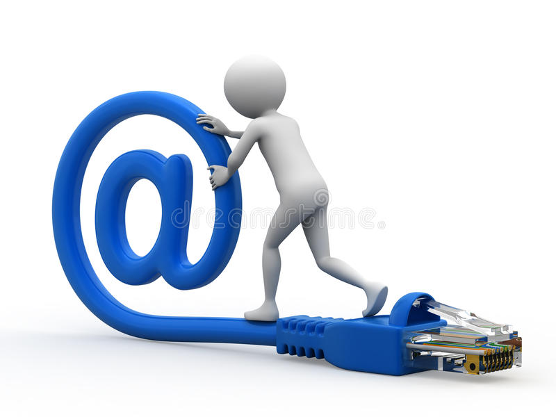 Connexion d'email illustration stock