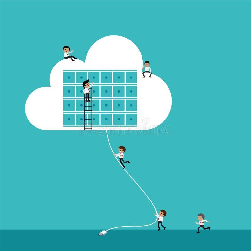 Connexion de nuage illustration libre de droits