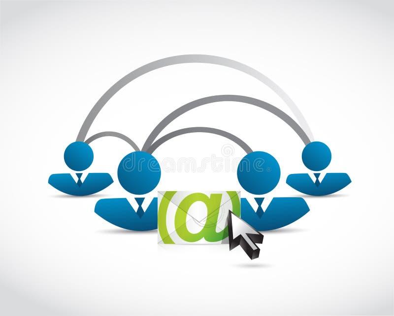 connexion de personnes de correspondance d'email illustration libre de droits