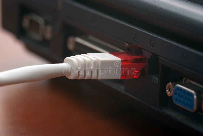 Connexion de réseau local images libres de droits