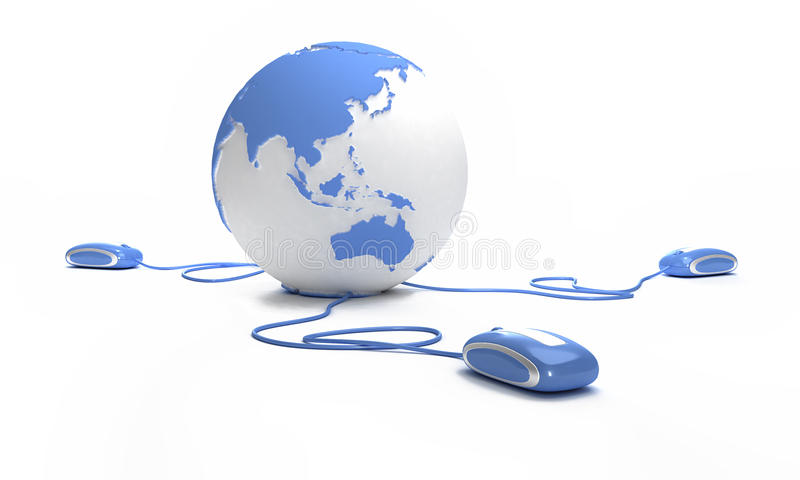 Connexion de terre bleue illustration de vecteur