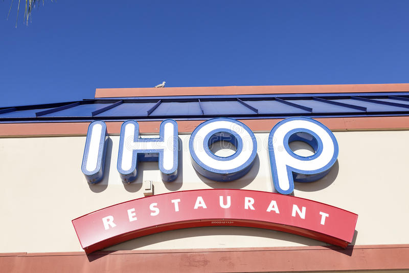 Connexion Etats-Unis de restaurant d'IHOP photographie stock libre de droits