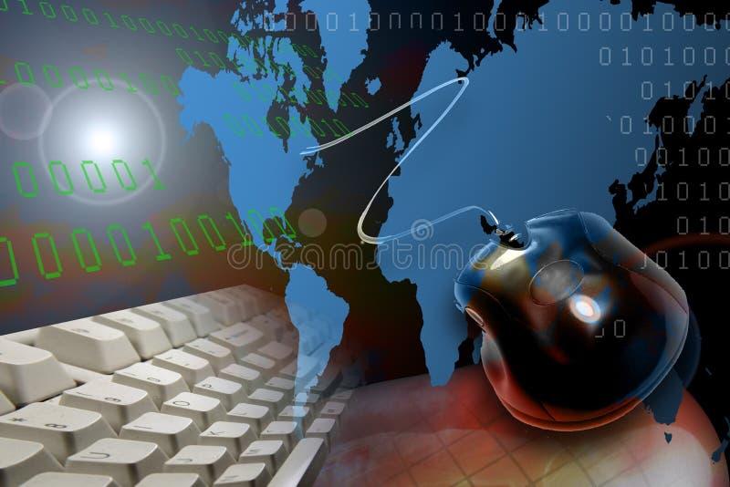Connexion globale illustration libre de droits