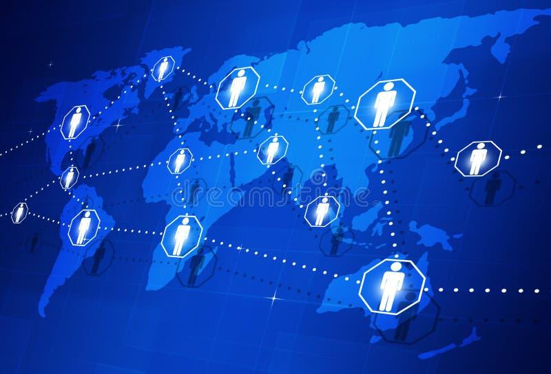 Connexion globale de personnes illustration libre de droits