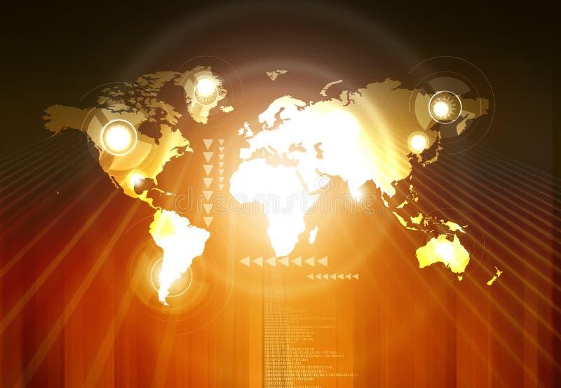 Connexion globale ou réseau social de connexion illustration libre de droits