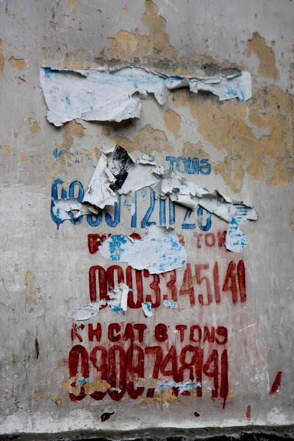 Connexion Ho Chi Minh de bâtiment d'épluchage photo stock