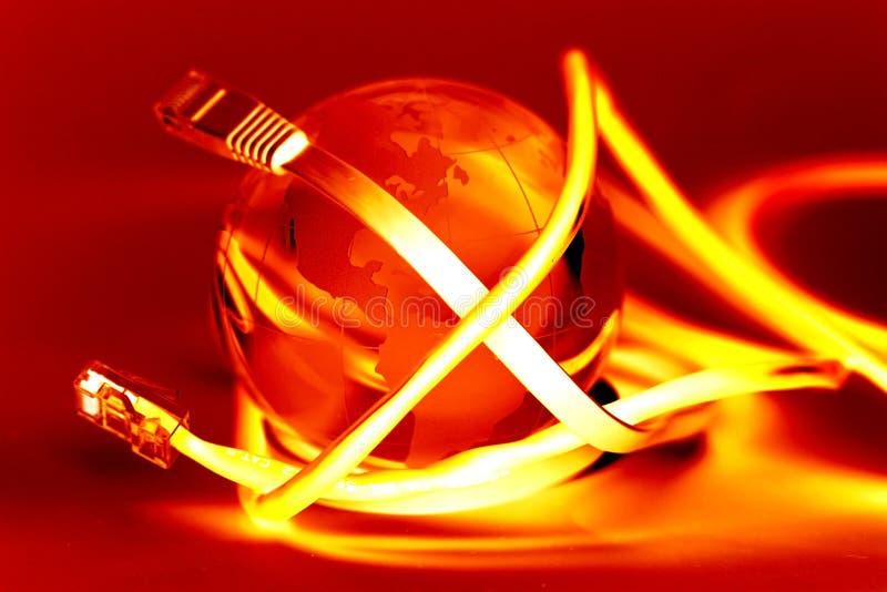 Connexion internet image libre de droits