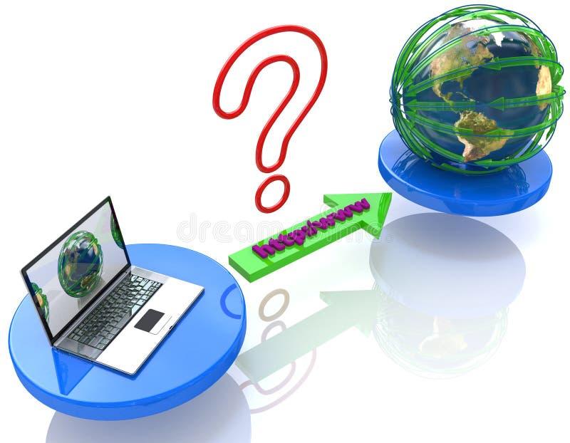 Connexion internet du monde illustration libre de droits