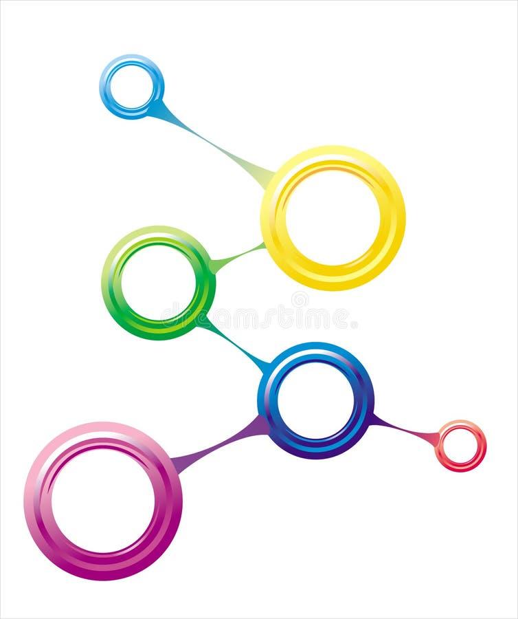Connexion moléculaire illustration stock