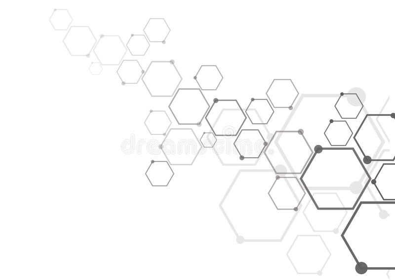 Connexion moléculaire abstraite illustration de vecteur