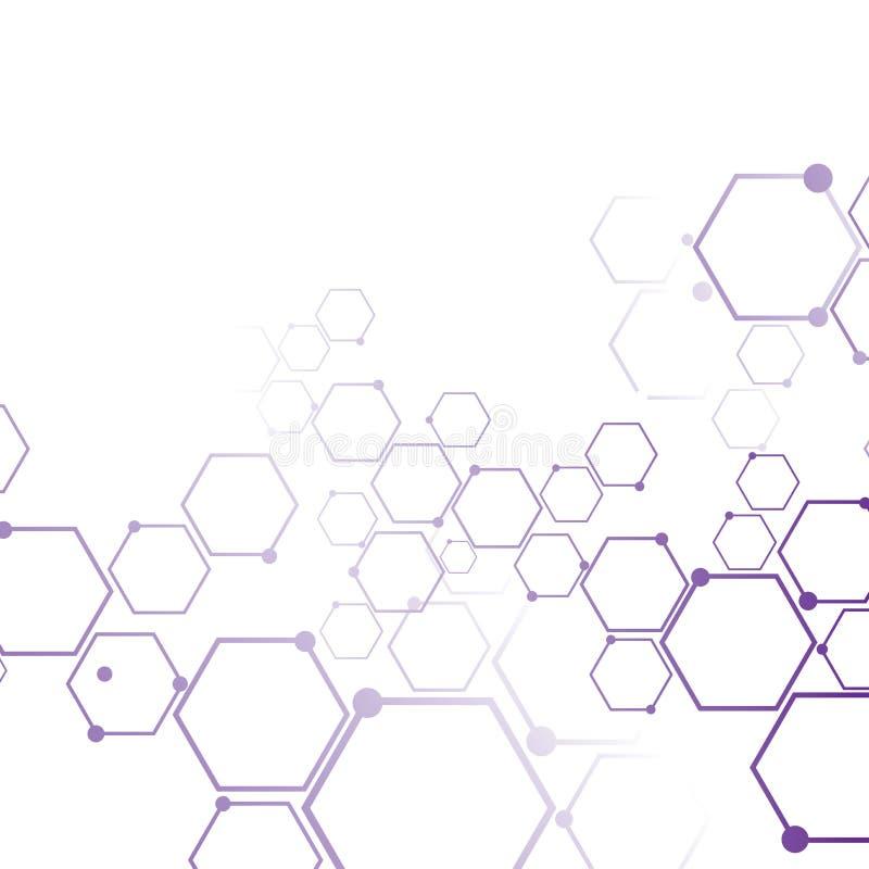 Connexion moléculaire abstraite illustration libre de droits