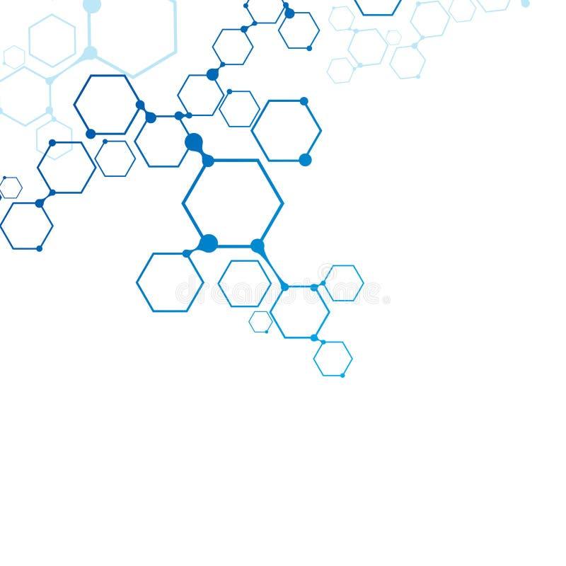 Connexion moléculaire abstraite illustration stock