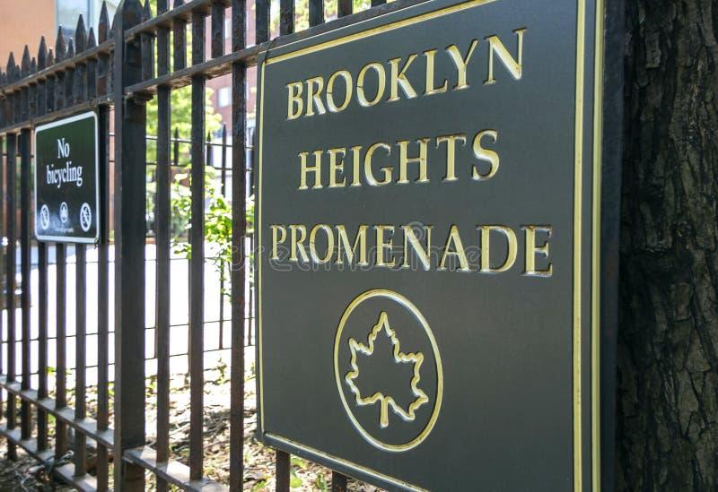 Connexion New York City de promenade de Brooklyn Heights photos libres de droits
