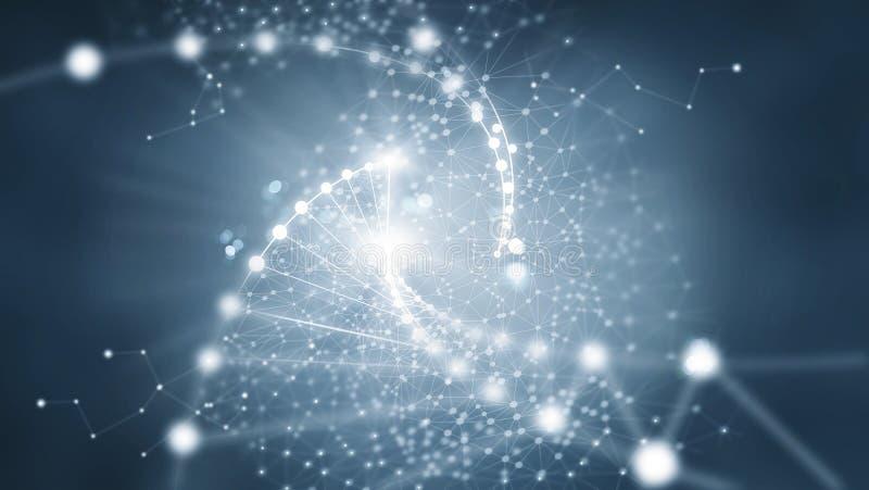 Connexion réseau abstraite sur le fond foncé image libre de droits