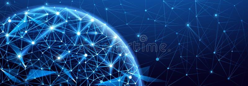 Connexion réseau globale illustration stock