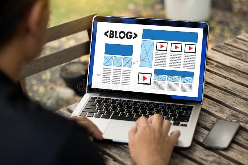 Connexion sociale N de media de page Web en ligne d'Internet de site Web de BLOG photographie stock libre de droits