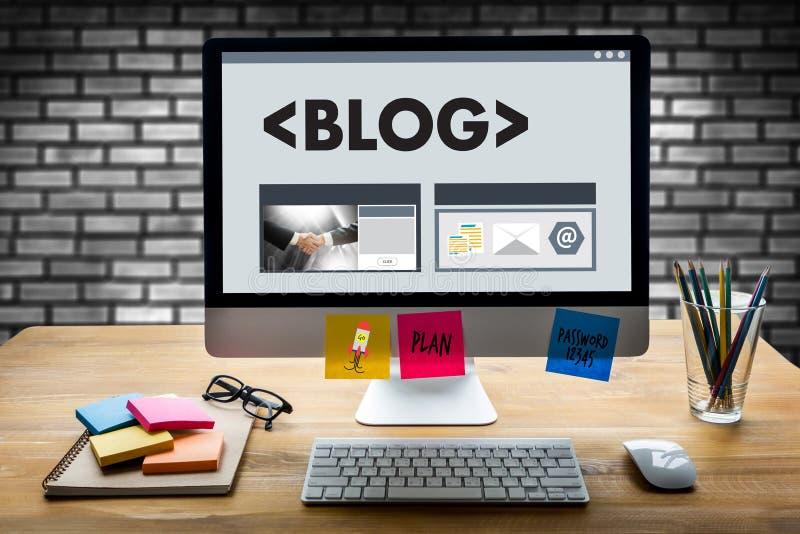 Connexion sociale N de media de page Web en ligne d'Internet de site Web de BLOG images stock