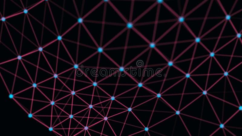 Connexion structurelle d'information Transfert des donn?es dans la connexion r?seau Fond abstrait de donn?es rendu 3d illustration de vecteur